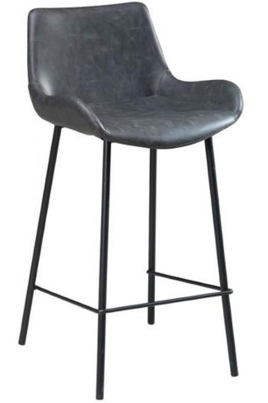 Vintage Bar Stool - Grey