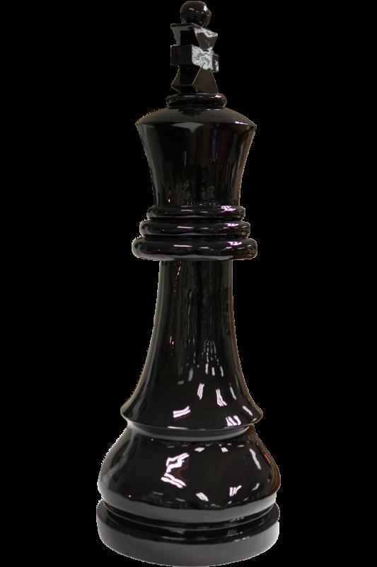 Large Chess King - Black