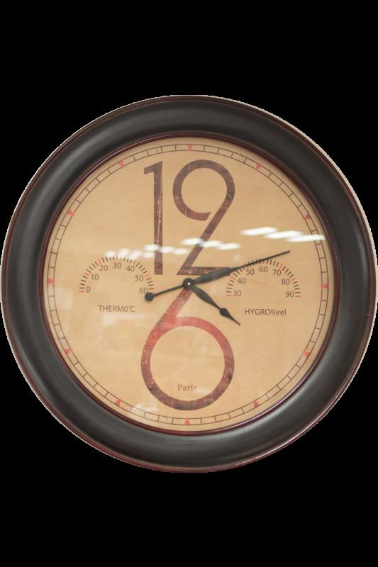 Large Retro Weather Clock