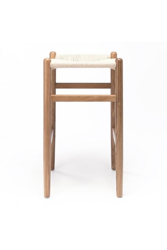 Kyoto Barstool Natural Oak Natural Rope Seat