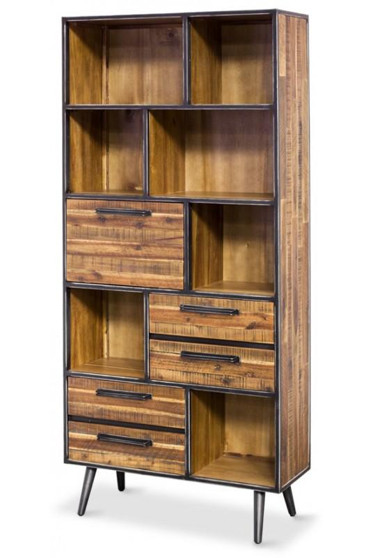 Rustic Skandy Metal Bookcase