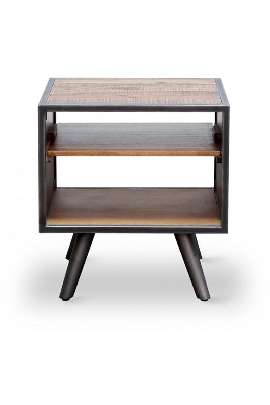 Rustic Skandy Metal Lamp Table