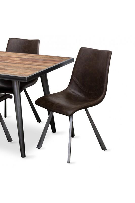 Simply Furniture Rustic Skandy Metal Dining Table 1800 X 900