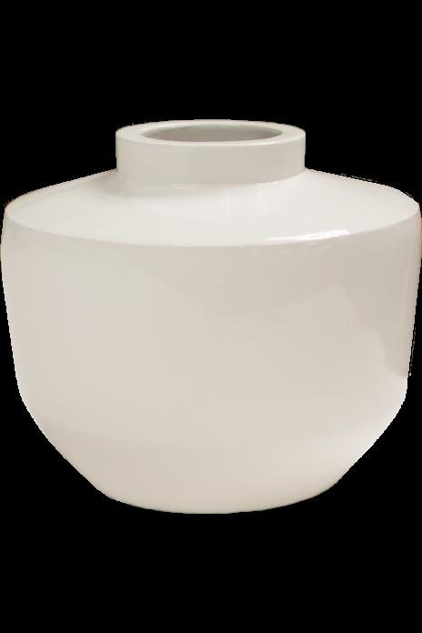 Short Bottle Vase - Glossy White